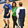 "(Brad Davis/The Register-Herald) Stetson University women's basketball head coach Lynn Bria positions WVU Tech basketball players Cole Schoolcraft, left, and Brent Daniels as she runs demos on a variety of plays that can be run out of the ""Princeton Offense"" system for other area coaches in attendance for this year's WVU Tech Coaches clinic Sunday morning in the Van Meter Gymnasium."