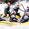 The Team USA Women's Raft Team make their way through Pillow Rock Rapid. They are training for a downriver race that takes place today on the Upper Gauley River. 5 of these women are from Colorado and 1 is from Idaho. Chad Foreman for the Register-Herald.