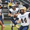 Shady Spring quarterback Drew Clark (10) looks to run during their high school football game Friday in Hinton. (Chris Jackson/The Register-Herald)