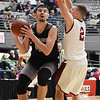 Westside's Corey Hatfield (44) puts a layup up over Bluefield's Chandler Cooper (2) during the fourth quarter of their Big Atlantic Classic Tournament game against Tuesday in Beckley. (Chris Jackson/The Register-Herald)