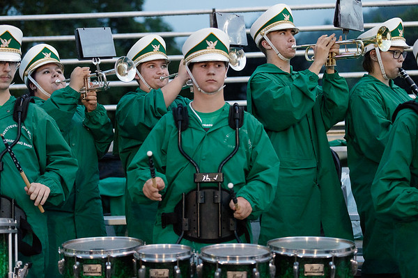 The Fayetteville High School band performs after the Pirates scored a touchdown. Chad Foreman for the Register-Herald.