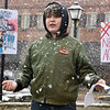 (Brad Davis/The Register-Herald) 13-year-old Emmett Gathercole, an 8th grader at Beckley-Stratton Middle School, delivers a speech during Beckley's March For Our Lives rally Saturday afternoon at Shoemaker Square.