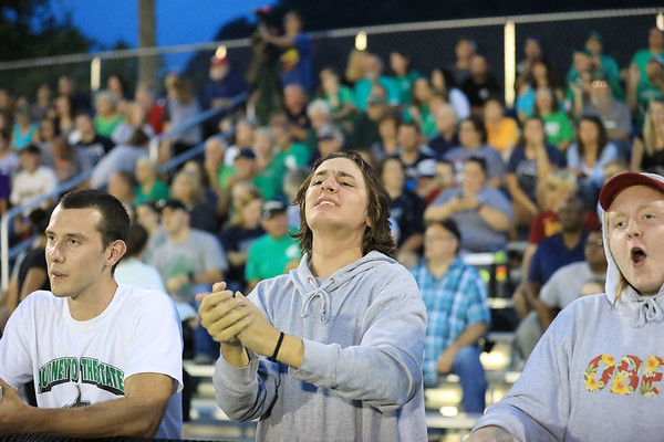 Fayetteville fans react to a play. (Chris Jackson/The Register-Herald)
