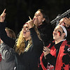 Liberty students cheering for their team against Independence Friday night.<br /> (Rick Barbero/The Register-Herald