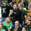 (Brad Davis/The Register-Herald) Wyoming East fans and family in the stands react to events on the court during the Lady Warriors Class AA State Championship game against North Marion Saturday afternoon at the Charleston Civic Center.