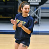 (Brad Davis/The Register-Herald) WVU Tech volleyball player Konstantina Pateli shares a laugh with teammates during practice Wednesday evening inside the Van Meter Gymnasium.