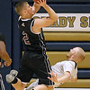 (Brad Davis/The Register-Herald) Bluefield's Chandler Cooper drives and scores as Shady Spring's Logan Cook defends Friday night in Shady Spring.