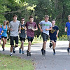 (Brad Davis/The Register-Herald) Members of the Shady Spring cross country team trek up, down and around the Little Beaver Park area during a practice Wednesday afternoon.