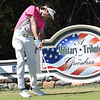 Bubba Watson hist his tee shot 12th hole during A Military Tribute at The Greenbrier golf tournament held at The Greenbrier Resort in White Sulphur Springs.<br /> (Rick Barbero/The Register-Herald)