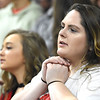 Greater Beckley Christian fans disappointed after losing to Tug Valley during the quarter-final game of the Class A Boys State Basketball Tournament held at the Charleston Civic Center. Tug Valley won 83-52<br /> (Rick Barbero/The Register-Herald)