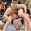 (Brad Davis/The Register-Herald) Greenbrier East's Jacob Scott takes on PikeView's Logan Krauss in a heavyweight class matchup during the Appalachian Fasteners Invitational Saturday afternoon at Shady Spring High School. PikeView's Krauss won the match.