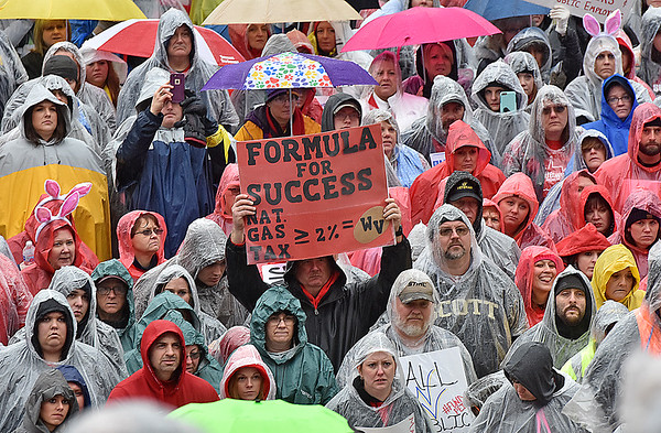 (Brad Davis/The Register-Herald) Scenes from the teachers rally Saturday afternoon at the State Capitol Complex.