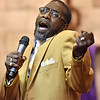 (Brad Davis/The Register-Herald) Pastor Walter E. Clay delivers a powerful song during Heart of God Ministries' One Voice One Sound Celebration of Gospel Sunday evening at the Kanawha Street Church. The jam-packed musical event was put together by the church's Soul to Soul Ministry and featured a large gathering of singers, psalmists, poets and other gospel talents from around the state.