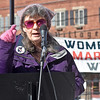 "(Brad Davis/The Register-Herald) Organizer Carol Workman speaks during the ""It's Our Time"" rally marking the one-year anniversary of the Women's March Saturday morning in Beckley's Showmaker Square."