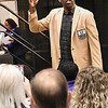 NFL Pro Football Hall of Fame Randy Moss, spoke during the Youth Summit held at the Beckley-Raleigh Convention Center Friday morning.<br /> (Rick Barbero/The Register-Herald)