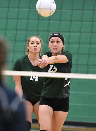 (Brad Davis/The Register-Herald) Fayetteville's Abby Garvin returns a ball against Meadow Bridge August 29 in Fayetteville.