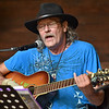 (Brad Davis/The Register-Herald) Alderson musicianAndrew Dean performs during a day of tunes and hanging out at the Chimney Corner Cafe & Amphitheater Sunday afternoon near Ansted.
