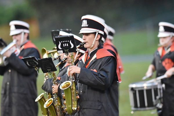 Summers County band performs during their high school football game Friday in Hinton. (Chris Jackson/The Register-Herald)