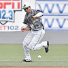 (Brad Davis/The Register-Herald) Miners 2nd baseman Fernando Ortiz boots a ground ball off the bat of Champion City hitter Conner Pohl, allowing him to reach base and added to a total of 6 errors in a loss to the Kings during the first game of a double header Wednesday at Linda K. Epling Stadium.