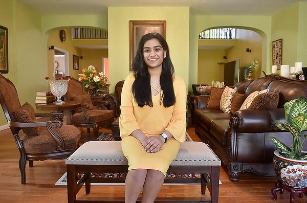 (Brad Davis/The Register-Herald) Woodrow Wilson High School student Nikki Zinzuwadia at her Martin Lane home May 13.