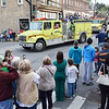 Hundred gather to watch the Fayetteville High School homecoming parade in Fayetteville on Friday. (Chris Jackson/The Register-Herald)