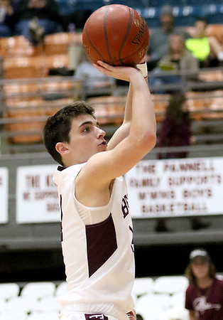 (Brad Davis/The Register-Herald) Woodrow Wilson's Bryce Radford shoots against Riverside Wednesday night at the Beckley-Raleigh County Convention Center.