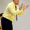 (Brad Davis/The Register-Herald) Shady Spring boys basketball coach Ronnie Olson during a game against Poca January 3 in Shady Spring.