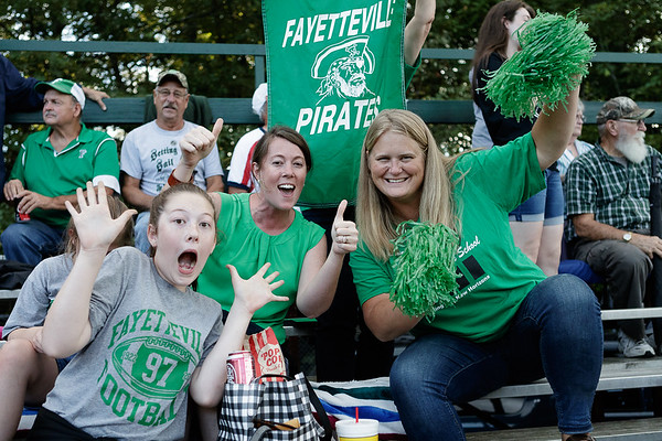 Fayetteville fans show their Pirate pride. Chad Foreman for the Register-Herald.