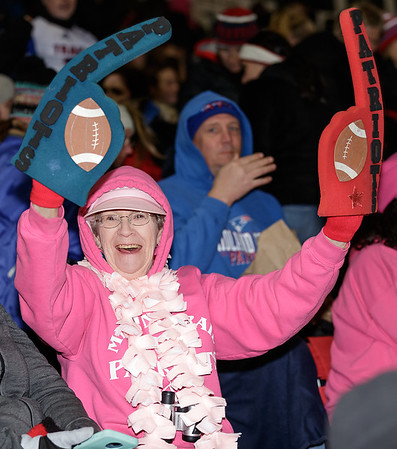 A Midland Trail Patriot fan supports her team. Chad Foreman for the Register-Herald.