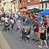 (Brad Davis/The Register-Herald) Main Street bustles with activity during Taste of Beckley Saturday night.