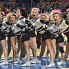 Westside cheerleaders in game against Winfield in the quarter-final game of the Class AA Boys State Basketball Tournament held at the Charleston Civic Center. Winfield won 68-65<br /> (Rick Barbero/The Register-Herald)