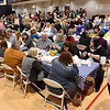 (Brad Davis/The Register-Herald) One of the largest crowds yet turned out for Beckley Quota Club's annual Empty Bowls fundrasing event Saturday afternoon inside The Place at United Methodist Temple.
