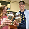 (Brad Davis/The Register-Herald) Chocolate Moose owner Kevin Traube and employee Emily Covey pose for a quick photo at the local coffee shop's new Raleigh General Hospital location, which opens Monday, Friday afternoon.