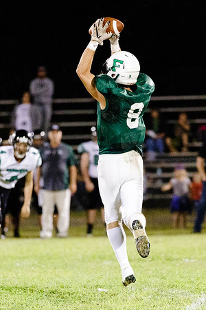 Jordan Dempsey makes a leaping catch for the Fayetteville Pirates. Chad Foreman for the Register-Herlad.