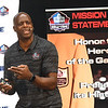 NFL Pro Football Hall of Famers Darrell Green, spoke during the Youth Summit held at the Beckley-Raleigh Convention Center Friday morning.<br /> (Rick Barbero/The Register-Herald)