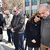 Bobby Sanger, right and his wife Jeanie Sanger, sister of Benny Willingham who died in the explosion, along with others paying respects in memory of the 29 men who died in the UBB 2010 explosion during a wreath laying ceremony held in front of the Raleigh County Courthouse on Main Street in Beckley<br /> (Rick Barbero/The Register-Herald)