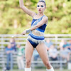 A Meadow Bridge Feature Twirler performs at halftime. Chad Foreman for the Register-Herald.
