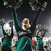 Fayetteville cheerleaders cheer on their side <br /> during their high school football game against Sherman Friday in Fayetteville. (Chris Jackson/The Register-Herald)