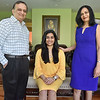(Brad Davis/The Register-Herald) Woodrow Wilson High School student Nikki Zinzuwadia and proud parents at her Martin Lane home May 13.