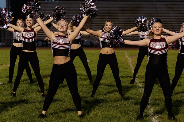 Woodrow Wilson Cheerleaders perform before the game. Chad Foreman for the Register-Herald.