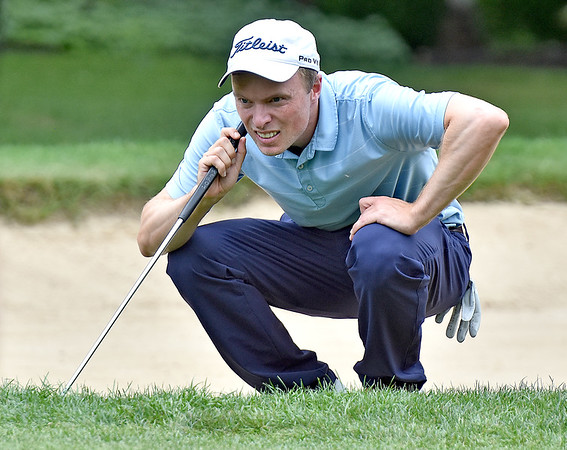 (Brad Davis/The Register-Herald) David Bradshaw during the final round of the 2018 West Virginia Open Friday afternoon at Glade Springs' Cobb Course.