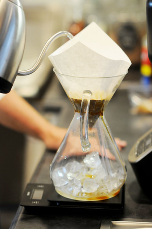 Appalachian Coffee House has pour-over iced coffee, smoothies, and tea. (Chris Jackson/The Register-Herald)