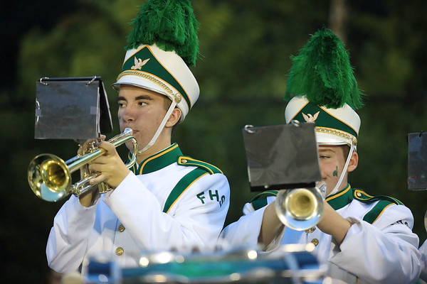 Members of Fayetteville's band play during a timeout.  (Chris Jackson/The Register-Herald)