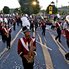 (Brad Davis/The Register-Herald) The Woodrow Wilson marching band performs on the move during the school's homecoming parade Wednesday evening in downtown Beckley.
