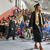 (Brad Davis/The Register-Herald) Graduating Summers County seniors make their way into the gym during the opening moments of the school's 2018 Commencement Ceremony Friday evening in Hinton.