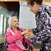 (Brad Davis/The Register-Herald) Scenes from 100-year-old Loretta Shellow's birthday party September 1.