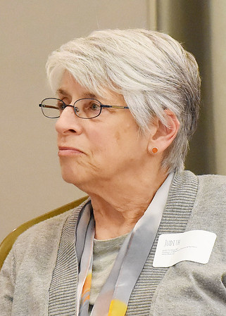 Judith Feinberg, MD, WVU Profession of Behavioral Medicine & Psychiatry, during the Communicate: HEP C & HIV in Beckley on Tuesday. (Chris Jackson/The Register-Herald)