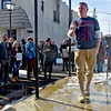 "(Brad Davis/The Register-Herald) State Senator Richard Ojeda speaks during the ""It's Our Time"" rally marking the one-year anniversary of the Women's March Saturday morning in Beckley's Showmaker Square."