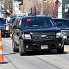 (Brad Davis/The Register-Herald) President Donald Trump's motorcade makes its way through downtown White Sulphur Springs Thursday afternoon.