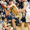 Shady Spring's Ryan Riffe (4) looks to pass after making a rebound during the first half of their regional basketball championship game against Westside Thursday in Clear Fork. (Chris Jackson/The Register-Herald)